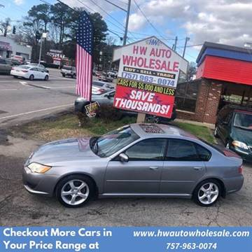 2008 Subaru Legacy 2.5i for sale at HW Auto Wholesale in Norfolk VA