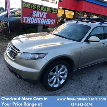 2005 Infiniti FX35 for sale at HW Auto Wholesale in Norfolk VA