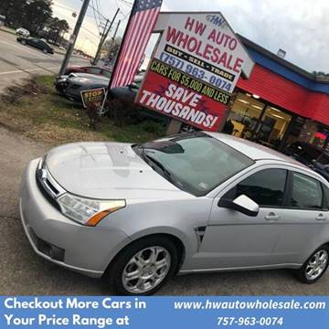 2008 Ford Focus SES for sale at HW Auto Wholesale in Norfolk VA