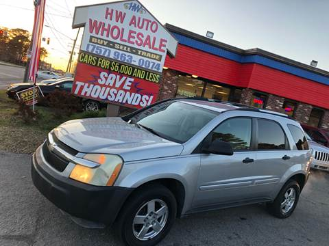 2005 Chevrolet Equinox LS for sale at HW Auto Wholesale in Norfolk VA