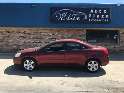 2009 Pontiac G6 for sale at Elite Auto Plaza in Springfield IL