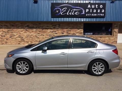 2012 Honda Civic for sale at Elite Auto Plaza in Springfield IL