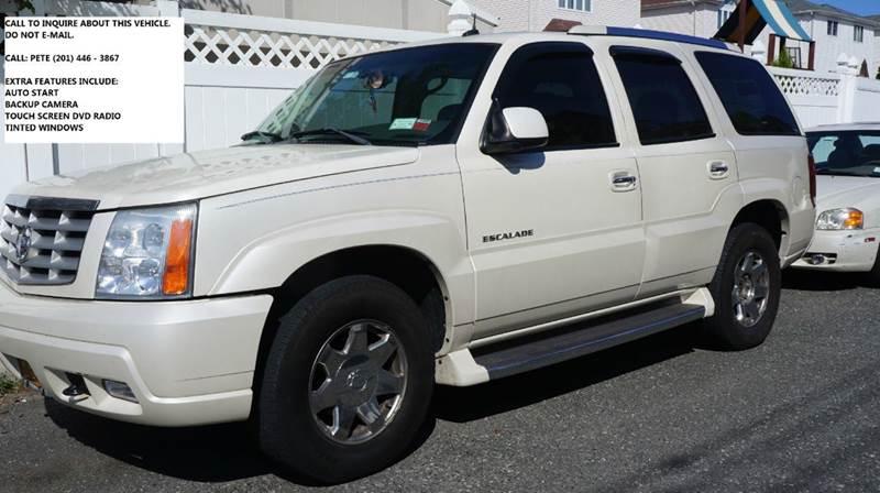 2003 Cadillac Escalade for sale at SILVER ARROW AUTO SALES CORPORATION in Newark NJ