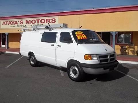 2000 Dodge Ram Van for sale at Atayas Motors INC #1 in Sacramento CA