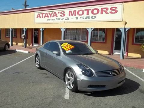 2007 Infiniti G35 for sale at Atayas Motors INC #1 in Sacramento CA