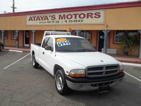 2000 Dodge Dakota for sale at Atayas Motors INC #1 in Sacramento CA
