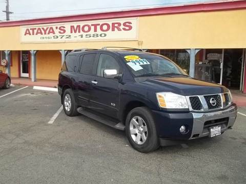 2006 Nissan Armada for sale at Atayas Motors INC #1 in Sacramento CA