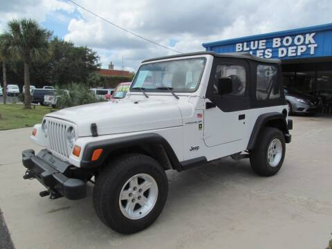 1998 Jeep Wrangler for sale at Blue Book Cars in Sanford FL