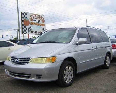 2002 Honda Odyssey $2,500