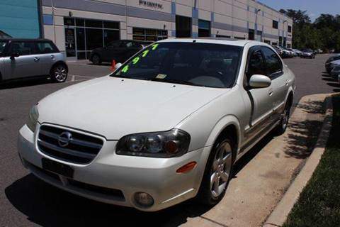 2003 Nissan Maxima for sale at M & M Auto Brokers in Chantilly VA