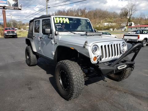 2012 Jeep Wrangler Unlimited for sale in Elizabethton, TN