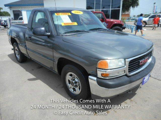 2001 gmc sierra 1500 sl 2dr standard cab 2wd sb in dallas tx easy credit auto sales. Black Bedroom Furniture Sets. Home Design Ideas