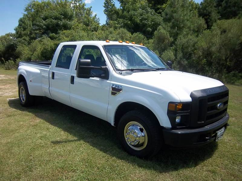 2009 FORD F-350 SUPER DUTY XL 4X2 4DR CREW CAB 8 FT LB DRW white f350 super duty crew cab long
