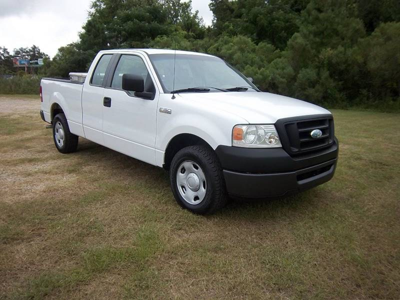 2008 FORD F-150 XL 4X2 4DR SUPERCAB STYLESIDE 6 white f150 extended cab short bed with a spray