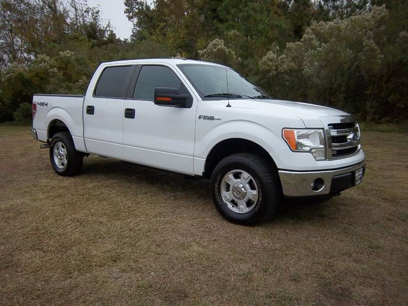 2013 FORD F-150 XL 4X4 4DR SUPERCREW STYLESIDE 5 white really nice crew cab 4x4 xlt with all ki