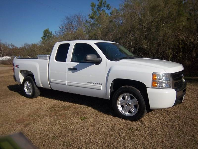 2010 CHEVROLET SILVERADO 1500 4DR EXT white extra sharp lt z71 4x4 extended cab short bed w