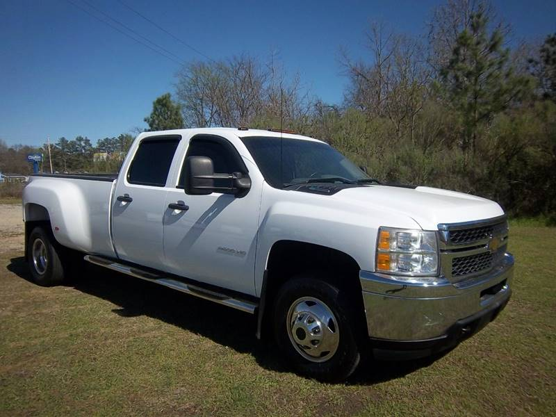2011 CHEVROLET 3500 HD CREW CAB DULLY DIESEL 4DR white do you need a heavy duty truck that will w