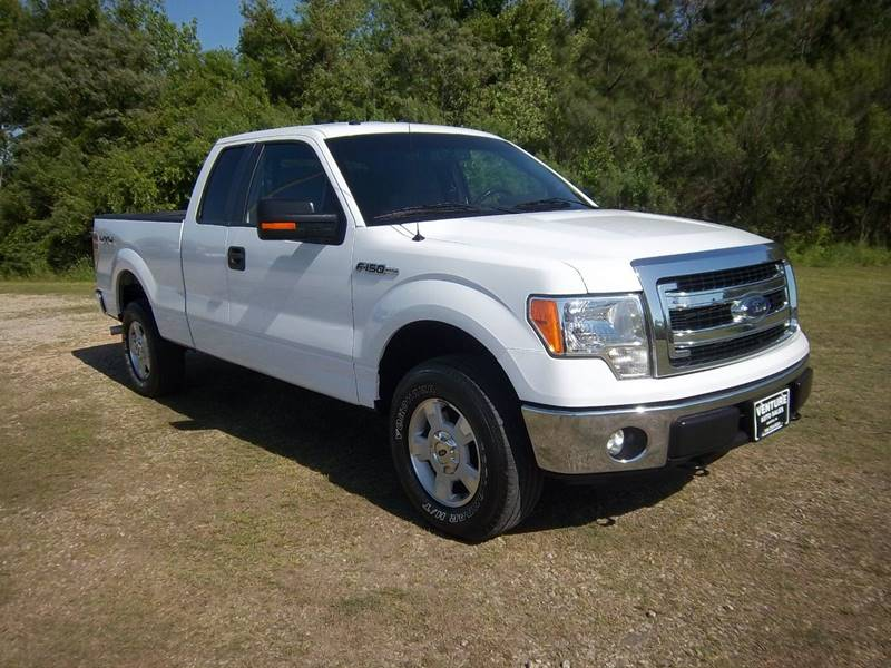 2014 FORD F-150 XLT 4X4 4DR SUPERCAB STYLESIDE 6 white this is one exceptionally nice truck fleet