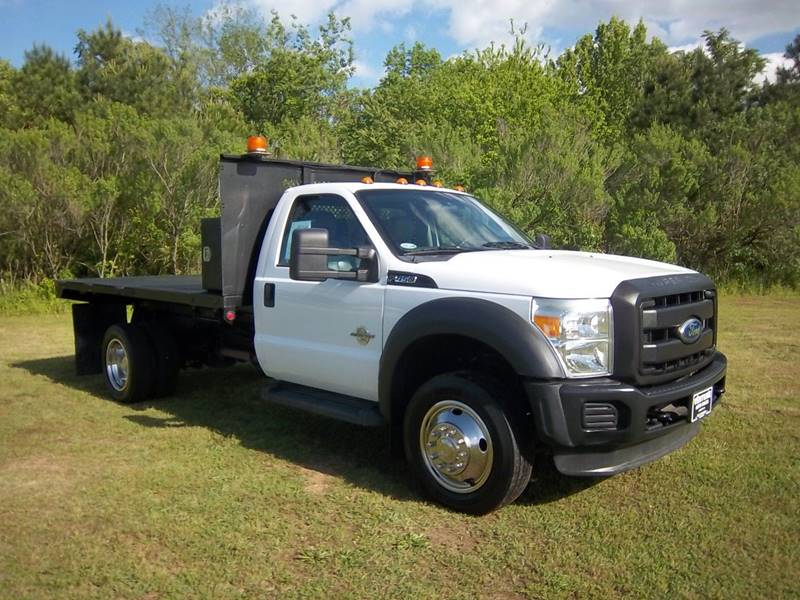 2011 FORD F450 XL FLAT BED DUMP 2DR white do you need a truck that will work as hard as you do i