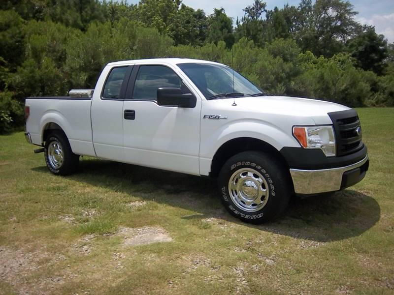 2014 FORD F-150 XL 4X2 4DR SUPERCAB STYLESIDE 6 white this truck could be used for work  pleasu