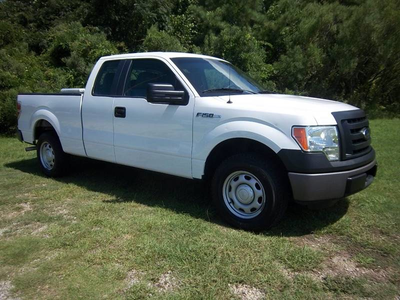 2012 FORD F-150 XL 4X2 4DR SUPERCAB STYLESIDE 6 white really nice one owner fleet truck that has