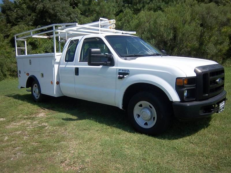 2008 FORD F350 XL EXTENDED SERVICE TRUCK 4DR white extended cab service truck is a hard to find t