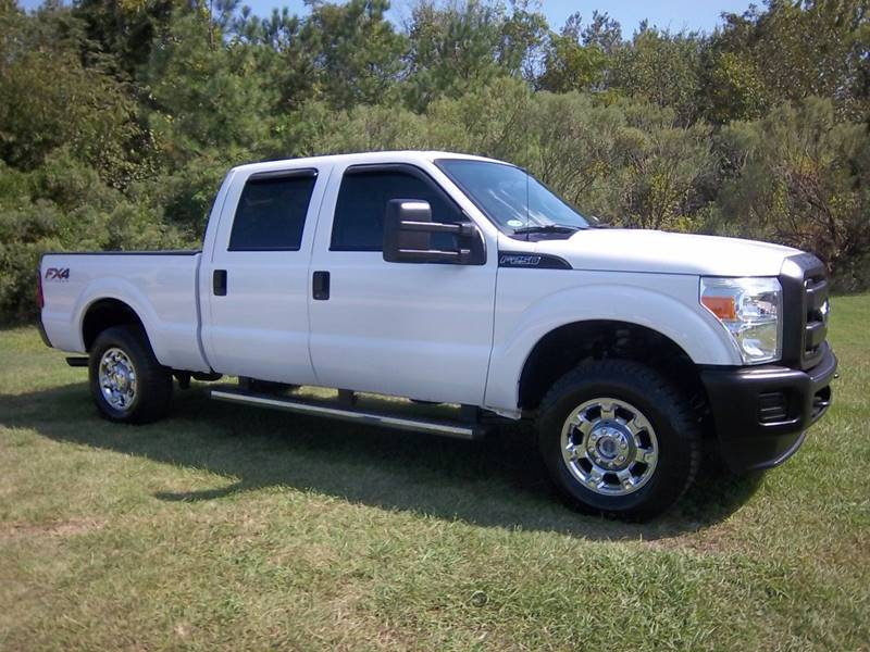 2015 FORD F250 XL 4X4 CREW CAB 4DR white this is one extremely nice truck fleet preowned  very