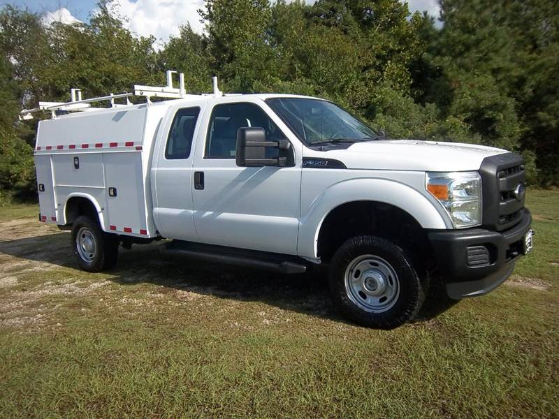2012 FORD F350 XL 4X4 EXT KUV SERVICE TK 4DR white f350 extended cab 4x4 kuv enclosed service