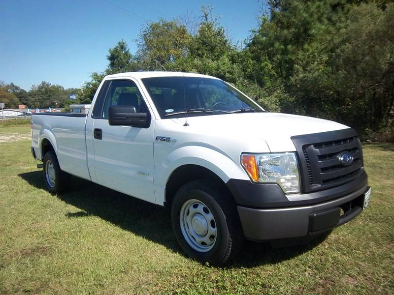 2012 FORD F150 XL white regular cab long bed with power windows locks cruise  keyless entry