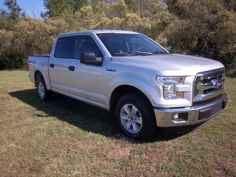 2016 FORD F-150 XLT 4X2 4DR SUPERCREW 55 FT SB silver extremely nice xlt full crew cab with lo