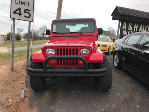 1991 Jeep Wrangler for sale at A & H Auto Sales in Greenville SC
