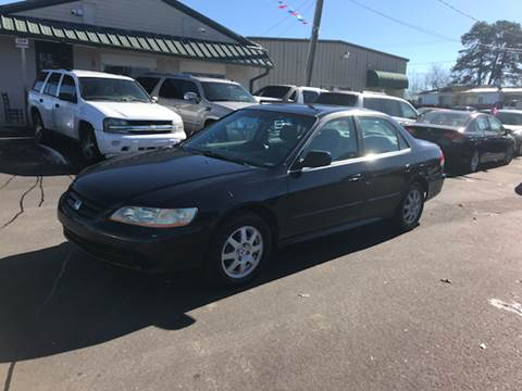 2002 Honda Accord for sale at A & H Auto Sales in Greenville SC