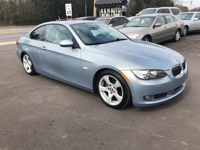 Bmw Series AWD Xi Dr Coupe In Greenville SC A H Auto - 2007 bmw 3 series 328xi coupe