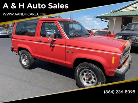 1988 Ford Bronco II for sale in Greenville, SC