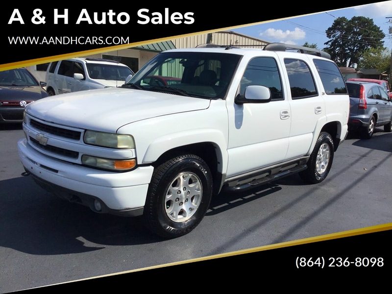 Chevrolet Greenville Sc >> 2003 Chevrolet Tahoe Lt 4wd 4dr Suv In Greenville Sc A H