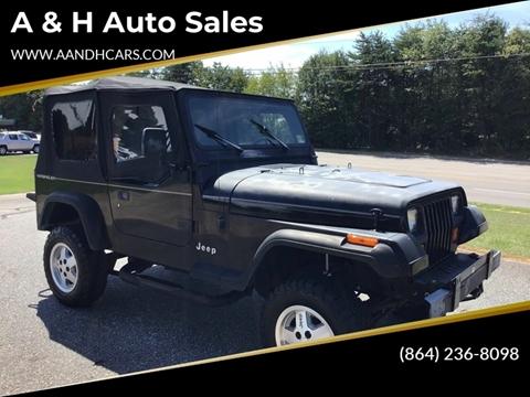 Jeep Wrangler For Sale In Sc >> 1993 Jeep Wrangler For Sale In Greenville Sc