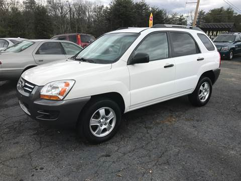 2008 Kia Sportage for sale at A & H Auto Sales in Greenville SC