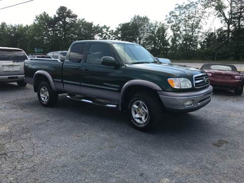 2000 Toyota Tundra for sale at A & H Auto Sales in Greenville SC