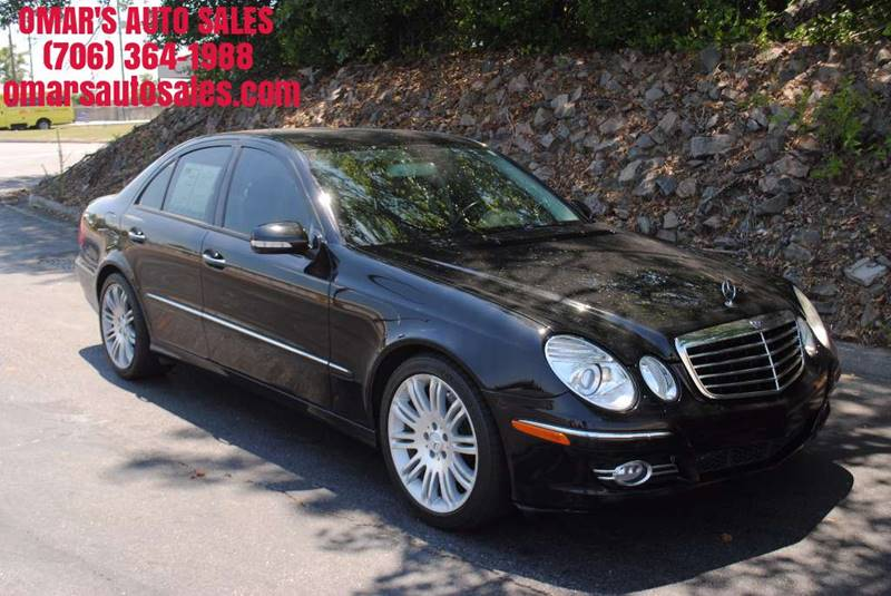 2007 MERCEDES-BENZ E-CLASS E 350 4DR SEDAN black no accidents very clean car with leather heat