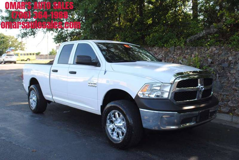 2013 RAM RAM PICKUP 1500 TRADESMAN 4X4 4DR QUAD CAB 63 F white pickup bed light pickup bed line