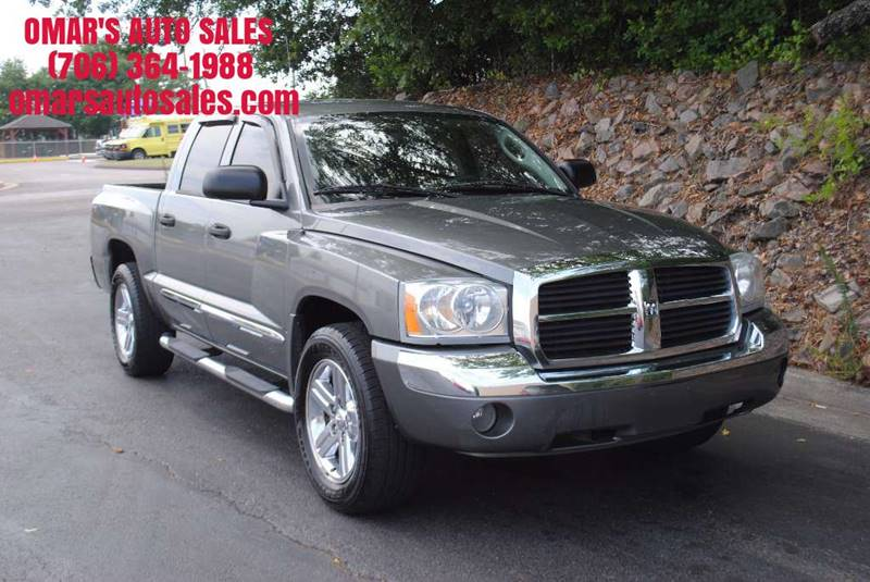 2007 DODGE DAKOTA LARAMIE 4DR QUAD CAB SB RWD gray pickup bed light pickup bed type - fleetside