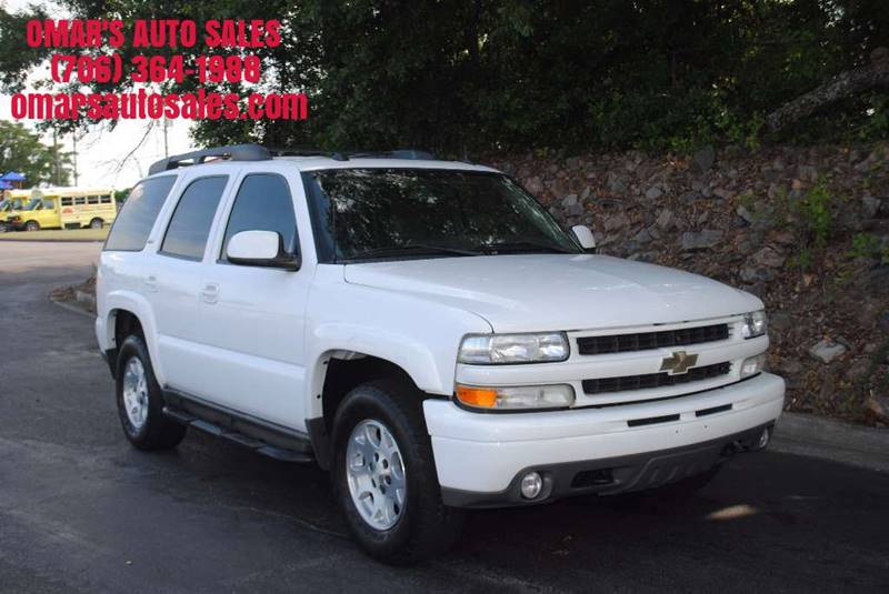 2005 CHEVROLET TAHOE Z71 4DR SUV white running boards front air conditioning rear air condition