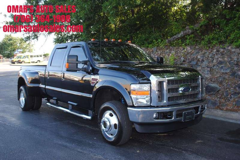 2010 FORD F-350 SUPER DUTY LARIAT 4X4 4DR CREW CAB 8 FT LB black pickup bed light pickup bed ty