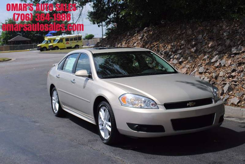 2012 CHEVROLET IMPALA LTZ 4DR SEDAN gold no accidents clean car with heated leather seats sun