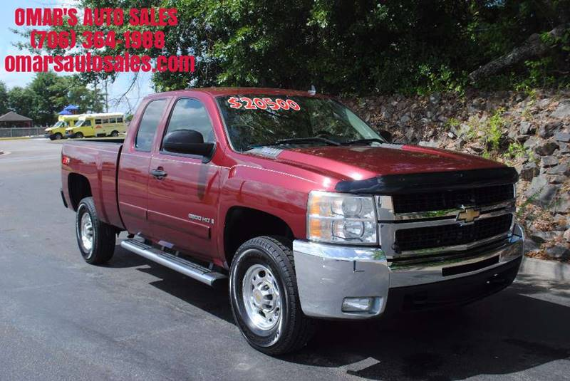 2008 CHEVROLET SILVERADO 2500HD LT1 2WD 4DR EXTENDED CAB SB maroon low miles z71 duramax with