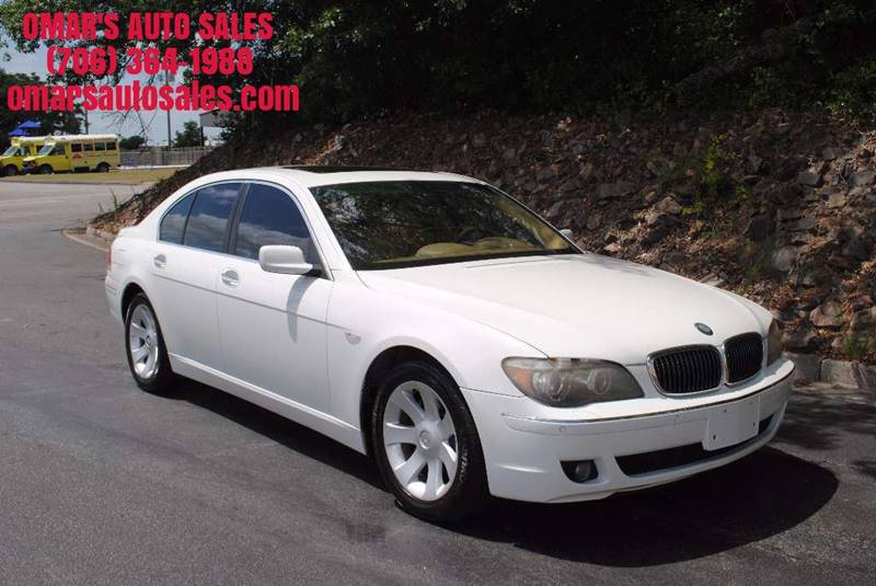 2006 BMW 7 SERIES 750I 4DR SEDAN white no accidents clean car loaded heated leather  memor