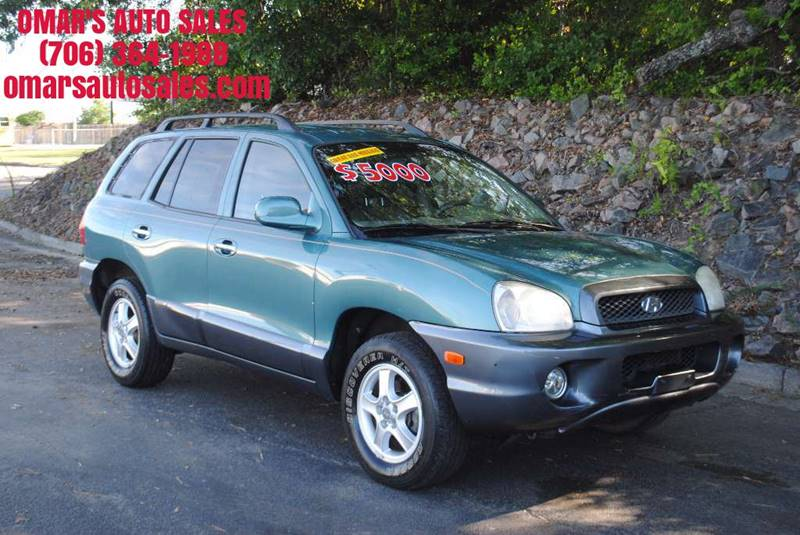 2001 HYUNDAI SANTA FE GLS AWD 4DR SUV green great gas saver with heated leather seats wonderful
