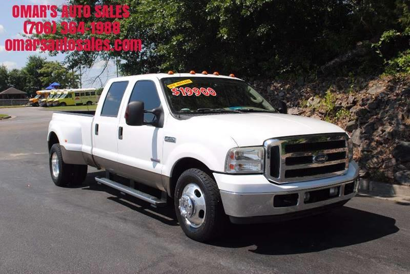 2006 FORD F-350 SUPER DUTY LARIAT 4DR CREW CAB LB DRW white low miles no accidents 1 owner v