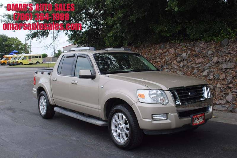 2007 FORD EXPLORER SPORT TRAC LIMITED 4DR CREW CAB V8 tan no accidents limited with heated lea