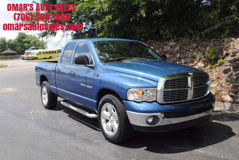 2005 DODGE RAM PICKUP 1500 SLT 4DR QUAD CAB RWD SB blue great tires running boards clean truck